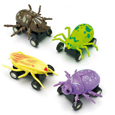Pull Back Racing Bugs for Kid's Toys, Party Bags & Prizes (Pack of 4)