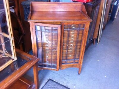 Early Antique Mahagony Specimen Cabinet ( Ask For Delivery Options)