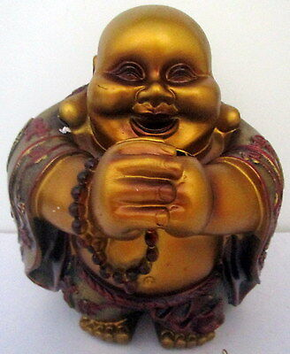 20Cm Gold & Red Lucky Buddha Money Box Make Him Happy Pop Some Coin In His Belly