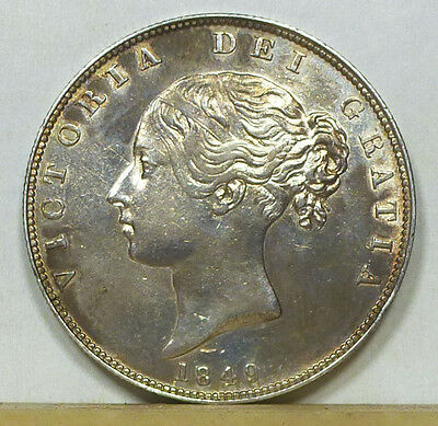 Great Britain Half Crown 1849 Almost Uncirculated