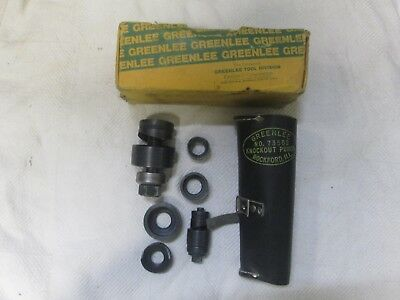 Greenlee Ball Bearing Knockout Punch Set No. 735Bb Box/leather Case