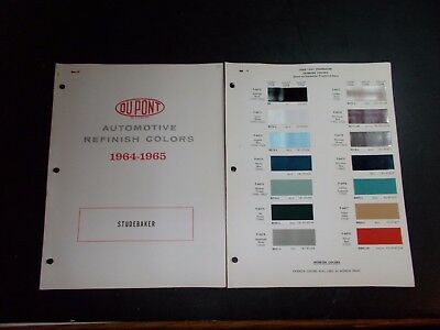 1964 1965 Studebaker Dupont Paint Chips Does Not Include Avanti
