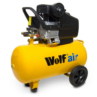 Wolf Air Compressor 50 Litre 2.5HP 9.6CFM 8BAR 230v Portable 116psi