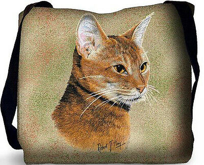 Woven Tote Bag - Abyssinian Cat 1957