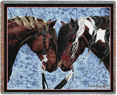 Throw Tapestry Afghan - Warriors Truce I 971