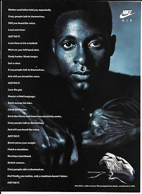 1991 Jerry Rice Football Hall Of Fame Nike Air Ad