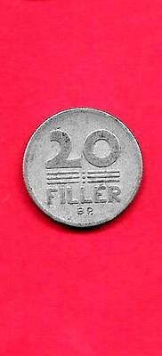 Hungary Km573 1968 Vf-Very Fine-Nice Old Vintage Aluminum 20 Filler Coin