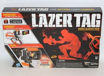 Lazer Tag Single Blaster Pack BOX DAMAGED Hasbro for iPhone/iPad Touch NERF