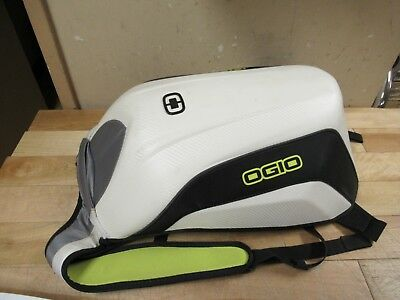 Ogio  No Drag Motorcycle Backpack - Mach 3 Le White - Stitch Loose