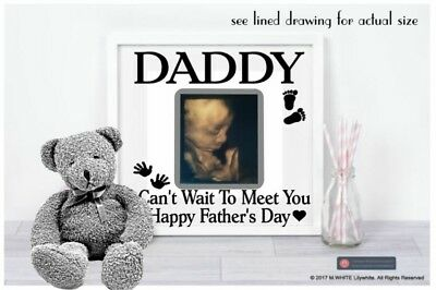 I cant wait to meet you Daddy Sticker BABY 1ST SCAN Happy Father's Day add photo