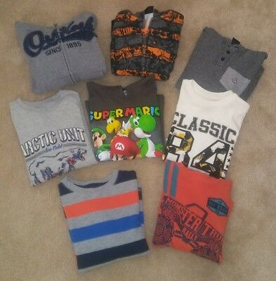 Boy's Lot of 7 long sleeve/hoodies Size 6-7