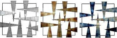 Modern Abstract Metal Wall Art Sculpture Metal Frame Three Fold Stainless Steel