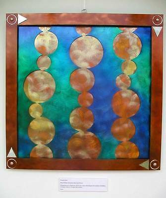 Oxygen Steel Contemporary Metal Wall Sculpture Art Hand Crafted Picture Hanging