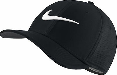 NEW Nike Classic 99 Mesh Black/White Fitted L/XL Hat/Cap