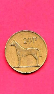 Ireland Irish Km25 1992 Vf-Very Fine-Nice Old Pre-Euro Large 20 Pence Horse Coin