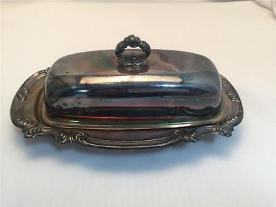 :) Vintage - Gorham Silverplated Butter Dish E.p. Yc 1760