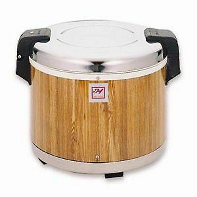 1 Set SEJ18000 Electric Rice Warmer Serves 30 Cups Cooked Rice Wood Grain Finish
