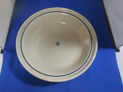 "Longaberger Woven Traditions Pottery Heritage Blue 10 1/4"" Pie Plate"