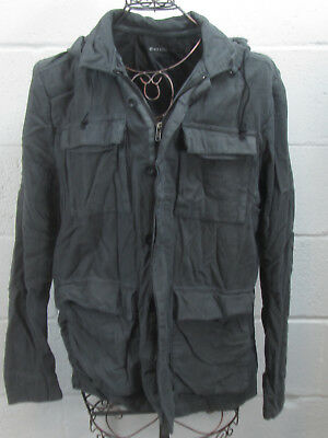 Nice Collective Men's Gray Cotton Hooded Hoodie Jacket Size L Large
