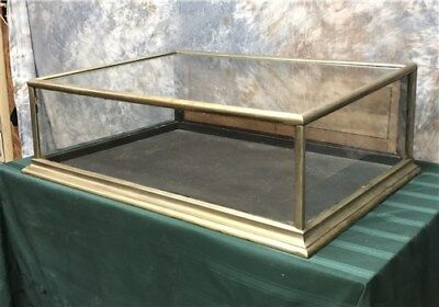 3' Showcase Nickel Plate Slant Glass Countertop Country Hardware Store Display