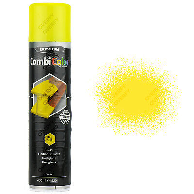 x6 Direct To Rust! Gloss Light Yellow Spray Paint Rust-Oleum CombiColor RAL1018