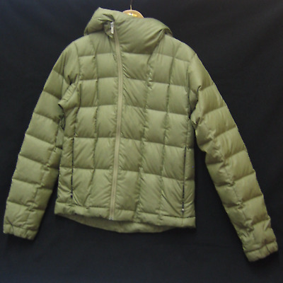 Nau Men's Down Hooded Jacket In Olive Green Size Small (750)