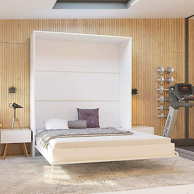 Murphy Bed 160 cm Vertical Smart Bed Various Colours Closet Folding Bed