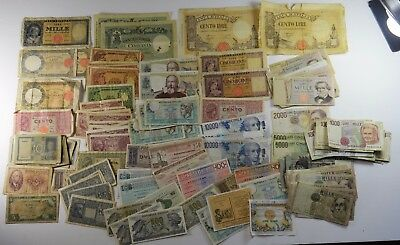 LARGE LOT OF 140 - ITALY CURRENCY BEFORE EURO - GOOD to UNCIRCULATED