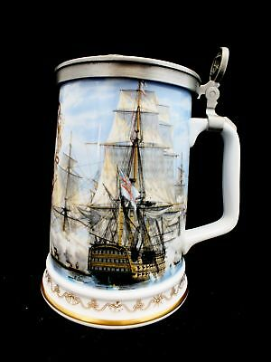 ROYAL WORCESTER Nelson's Victory At Trafalgar' TANKARD Approx. 18cm tall - A08