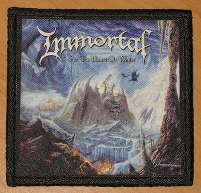 "IMMORTAL ""AT THE HEART OF WINTER"" silk screen PATCH (1)"