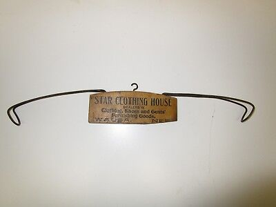 Wooden Advertising Clothes Hanger - Star Clothing House, Wausa, Nebraska