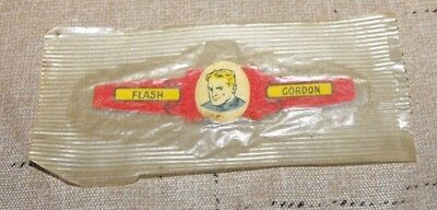 """Vintage Tin  Post's Cereal Ring """"flash Gordon"""" Mint 1949 King Features Ring"""