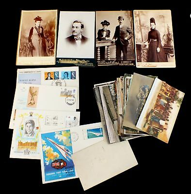 Collection Job Lot of Vintage POSTCARDS & CABINET PHOTOS - S77