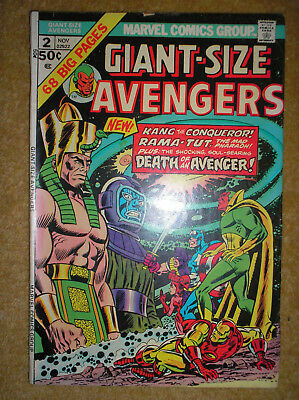 GIANT-SIZE AVENGERS # 2 DEATH OF SWORDSMAN KANG 50c BRONZE AGE MARVEL COMIC BOOK