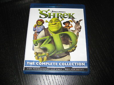 SHREK 3D - The Complete Collection - Region B - Blu Ray - VGC