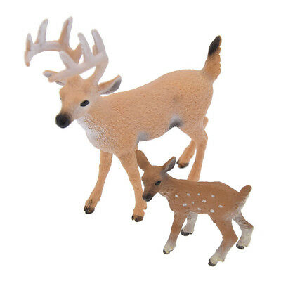 1 Pc Deer Figure Christmas Doll White-tailed Reindeer Home Party Decoration Xmas