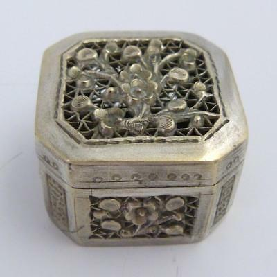 19th CENTURY CHINESE SILVER CRICKET BOX