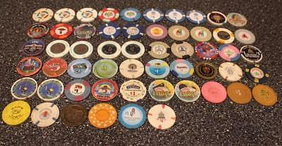 Huge Lot Plastic Metal Casino Chips 81.25 Face Value Vegas Atlantic City $1 & $5