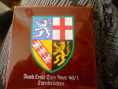 Vintage German Tile With Coat Of Arms Zweibrucken, Made By Piccol-Kachel