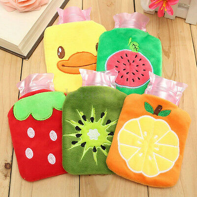 Home Necessary Outdoor Rubber HOT Water Bottle Bag Warm Relaxing Heat&Cold La