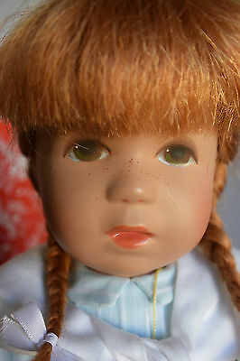 "Lovely 14"" Toni Kathe Kruse Doll, Red Head, Freckles & Green Eyes!"