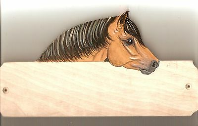 Highland horse/pony stable/stall/barn name plate/plaque/sign personalised gift