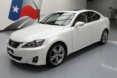 2011 Lexus IS Base Sedan 4-Door 2011 LEXUS IS250 SEDAN AUTO PADDLE SHIFT SUNROOF 28K MI #129383 Texas Direct