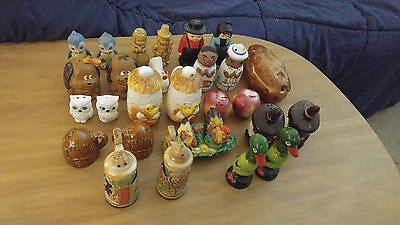 Nice Vintage Lot Of 14 Vintage Mixed Salt & Pepper Shakers Ceramic Japan Animals