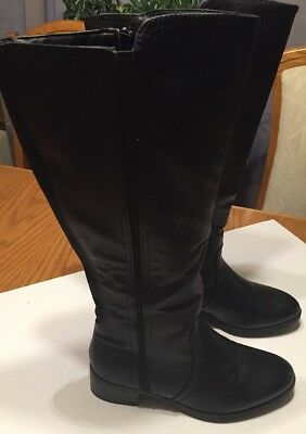 Lane Bryant Women's Wide Calf Knee High Black Boots Size 11