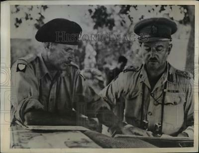 1943 Press Photo General Sir Montgomery Chief of British 8th Army in Italy