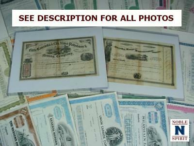 NobleSpirit NO RESERVE {3970} Desirable 48x Stock Certificates & 1865 Mining Co.