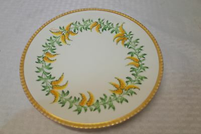 Antique Limoges France Plate Gd&c Burley & Co Chicago Avenir Gold Hand Painted