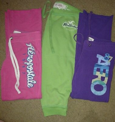 Lot of 3Juniors Small Sweatpants Aeropostale full Hollister cropped