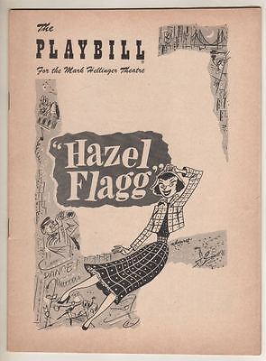 """Hazel Flagg""  Playbill  1953   Broadway   Helen Gallagher, Thomas Mitchell"